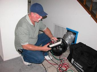 See a duct test performed